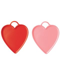 Red & Pink Heart Weights 10ct
