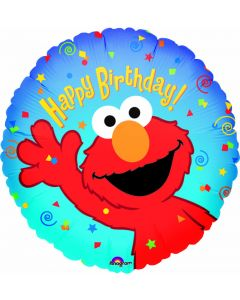 "9"" Elmo Birthday Inflated with Cup & Stick"