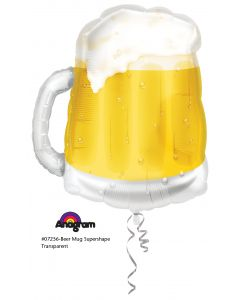 """23"""" Beer Mug Transparent"""