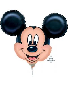 """14"""" Mickey Head Shape Inflated with Cup & Stick"""