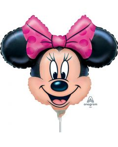 """14"""" Minnie Head Shape Inflated with Cup & Stick"""