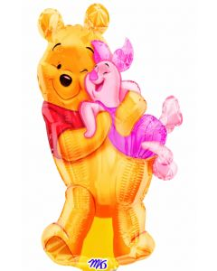 "14"" Big Pooh Hug Inflated with Cup & Stick"
