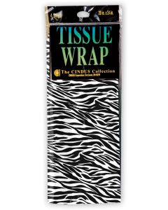 Zebra Print Tissue Sheets 4ct
