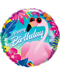 "18"" Tropical Flamingo B'day"