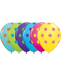 "11"" Big Polka Dots Colorful Assort 50ct"
