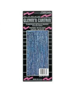 Blue Metallic Curtain 3x8
