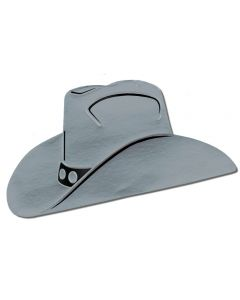 "16"" Silver Cowboy Hat Cutout"