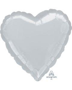 """32"""" Silver Heart"""