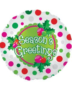 "18"" Season's Greeting Polka Dots"