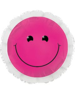 "18"" Neon Hot Pink Smiley"