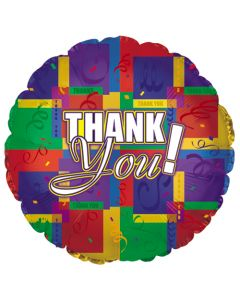 "18"" Thank You Colorful Squares--"