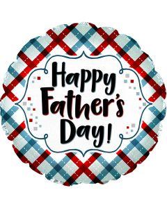 "18"" Father's Day Plaid & Script"