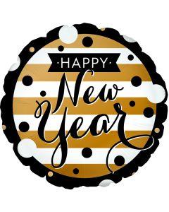 "18"" New Year Black & Gold"
