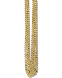 Gold Party Beads 12ct