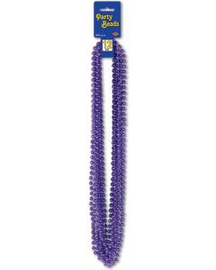 Purple Party Beads 12ct