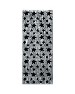 Black & Silver Star Curtain
