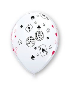 "11"" Cards Dice White 50ct"