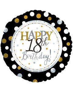"""18"""" Silver & Gold Birthday 18"""