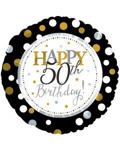 """18"""" Silver & Gold Birthday 50"""
