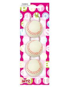 Plastic Baseball Keychains 3ct