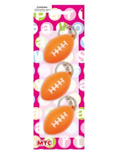 Plastic Football Keychains 3ct