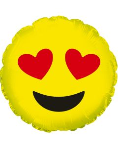 "9"" Smiley In Love Inflated with Cup & Stick"