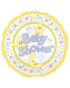 "9"" Baby Shower Moon & Stars"