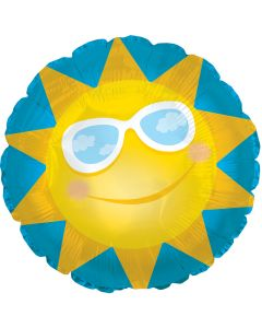 """14"""" Sun with Glasses"""