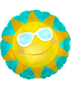 """14"""" Sun with Glasses Inflated with Cup & Stick"""