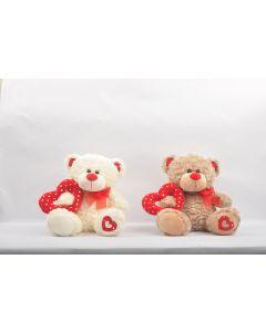 """12"""" Fanny Bear Holding Heart"""