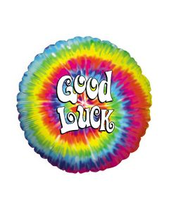 "9"" Good Luck Tye Dye Inflated with Cup & Stick"