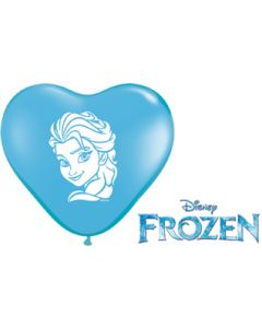 "6"" Anna & Elsa Faces Heart Assort 100ct"