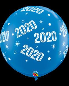 3' 2020 Sparkles & Dots Dk Blue  1 Ct