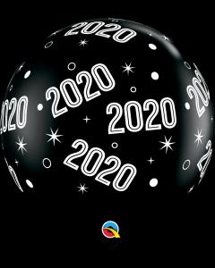 3' 2020 Sparkles & Dots Black  1 Ct
