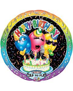 """28"""" Singing Balloons B'day"""