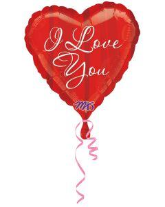 "18""I Love  You Red Stripes Pkg"