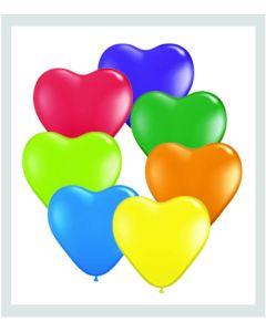 "6"" Heart Carnival Assort 100ct"