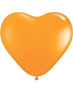"""6"""" Orange Hearts 100ct"""