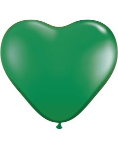"6"" Green Hearts 100ct"