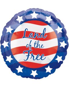 "18"" Patriotic Land Of The Free--"
