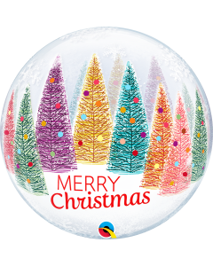 "22"" Christmas Trees & Snowflakes Bubble"