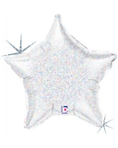 "21"" Silver Holographic Star"