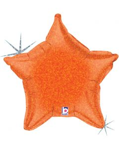"21"" Orange Holographic Star"