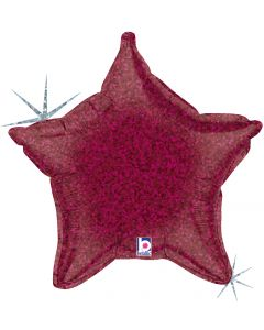 "21"" Burgundy Holographic Star"