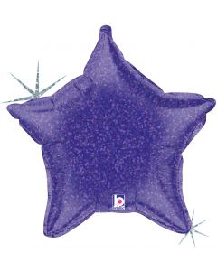 "21"" Purple Holographic Star"