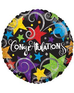 "9"" Congrats Brite Stars & Swirls"
