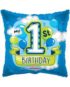 "18"" 1st B'day Blue Balloons"