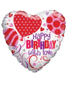 """18"""" B'day Balloons With Love"""