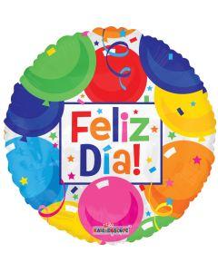 "18"" Feliz Dia Balloons & Banner"