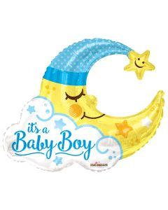 """36"""" Baby Boy Sleeping Moon"""